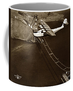 Philippine Clipper A Pan Am Clipper Over The Golden Gate Bridge  1935 Coffee Mug