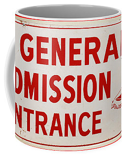 Phillies General Admission Sign From Connie Mack Stadium Coffee Mug