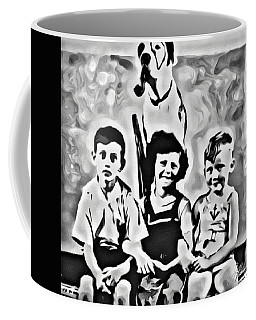 Coffee Mug featuring the digital art Philly Kids With Petey The Dog by Joan Reese