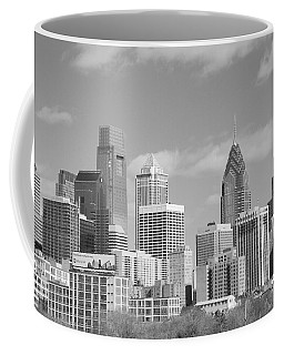 Philly Skyscrapers Black And White Coffee Mug