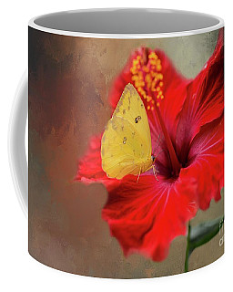 Phoebis Philea On A Hibiscus Coffee Mug
