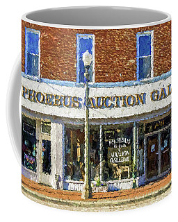 Coffee Mug featuring the photograph Phoebus Auction Gallery by Jerry Gammon