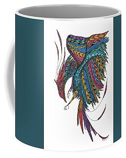 Coffee Mug featuring the drawing Phoenix Landing by Barbara McConoughey