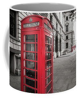 Phone Booths In London Coffee Mug