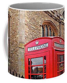 Coffee Mug featuring the photograph Phone Home - Gt St Marys Church Cambridge by Gill Billington