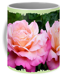 Coffee Mug featuring the photograph Photogenic Peace Roses by Will Borden