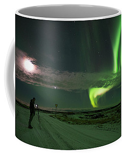 Photographer Under The Northern Light Coffee Mug