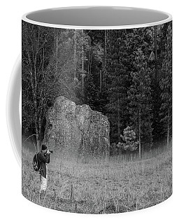 Photographer In The Valley Coffee Mug