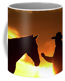 Cowgirl Sunset Sihouette Coffee Mug