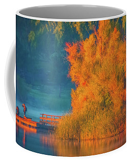 Photographing The Sunrise Coffee Mug by Marc Crumpler