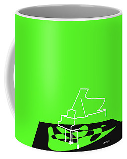 Coffee Mug featuring the digital art Piano In Green by Jazz DaBri