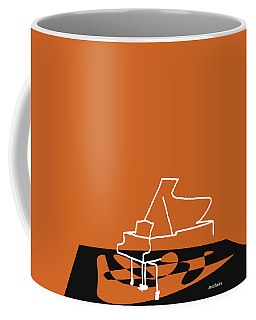 Coffee Mug featuring the digital art Piano In Orange by Jazz DaBri