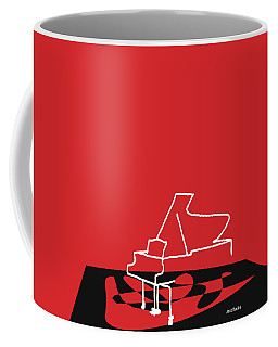 Coffee Mug featuring the digital art Piano In Red by Jazz DaBri
