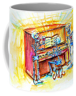 Coffee Mug featuring the painting Piano Man by Heather Calderon