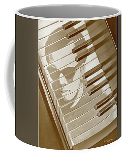 Piano Man In Sepia Coffee Mug