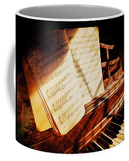 Piano Sheet Music Coffee Mug
