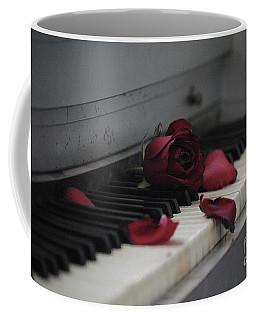 Piano With Vintage Rose Coffee Mug