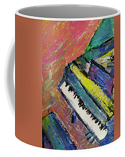 Piano With Yellow Coffee Mug