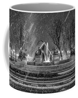 Coffee Mug featuring the photograph Piazza Solferino In Winter-1 by Sonny Marcyan