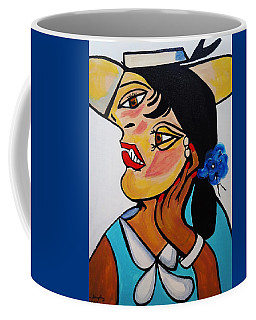 Yellow Hat Picasso Coffee Mug