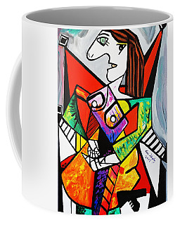 New Picasso By Nora  The Ruler Coffee Mug