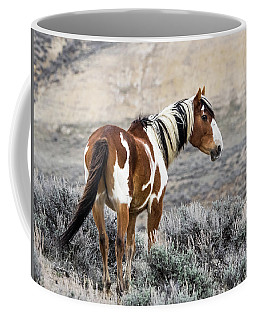 Picasso - Wild Mustang Stallion Of Sand Wash Basin Coffee Mug by Nadja Rider