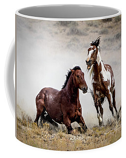 Picasso - Wild Stallion Battle Coffee Mug by Nadja Rider