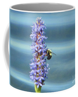 Coffee Mug featuring the photograph Pickerelweed Bumble Bee by Rockin Docks Deluxephotos