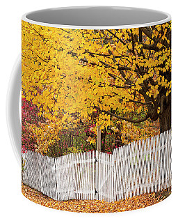 Picket Fence Autumn Coffee Mug by Alan L Graham