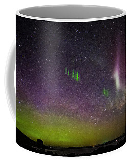Picket Fences And Proton Arc, Aurora Australis Coffee Mug by Odille Esmonde-Morgan