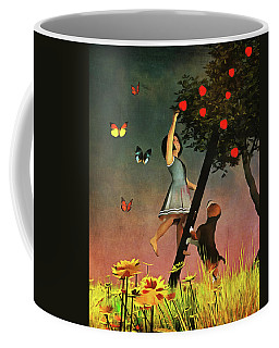 Picking Apples Together Coffee Mug