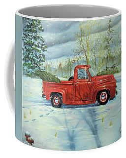Picking Up The Christmas Tree Coffee Mug