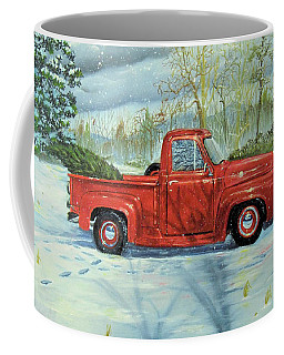 Picking Up The Christmas Tree Coffee Mug