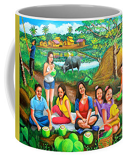 Picnic At The Farm Coffee Mug by Cyril Maza
