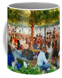 Picnic In The Park Coffee Mug by Aleksander Rotner