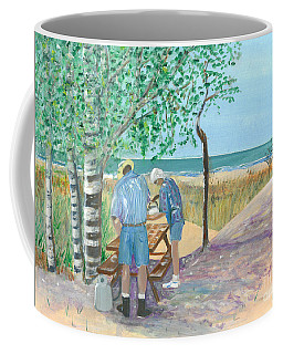 Picnic On Lake Huron - Painting Coffee Mug
