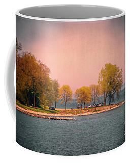Picnic On The Point - Lake Michigan Coffee Mug by Mary Machare