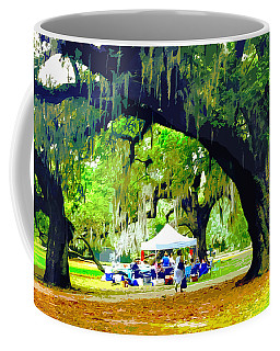 Picnic Under The Oaks Coffee Mug
