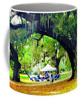 Picnic Under The Oaks Coffee Mug