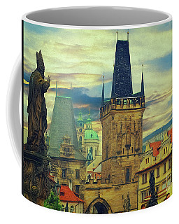 Coffee Mug featuring the photograph Picturesque - Prague by Leigh Kemp
