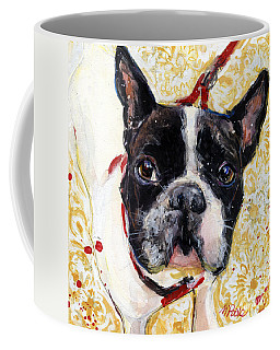 Coffee Mug featuring the painting Pie And I by Molly Poole