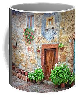 Pienza Street Scene Coffee Mug