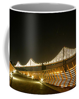 Pier 14 And Bay Bridge Lights Coffee Mug