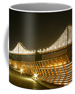 Pier 14 And Bay Bridge Lights Coffee Mug
