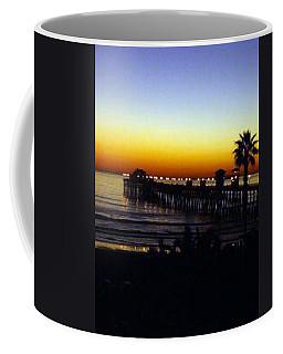 Coffee Mug featuring the photograph Pier At Sunset by Amanda Eberly-Kudamik