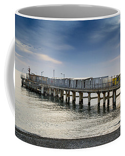 Pier At Sunset Coffee Mug