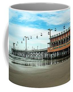 Coffee Mug featuring the photograph Pier Daytona Beach by Carolyn Marshall