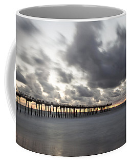Pier In Misty Waters Coffee Mug by Ed Clark