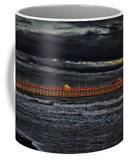 Coffee Mug featuring the photograph Pier Into Darkness by Kelly Reber
