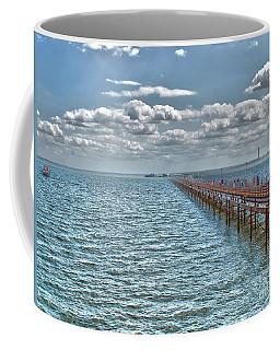 Pier Into The English Channel Coffee Mug